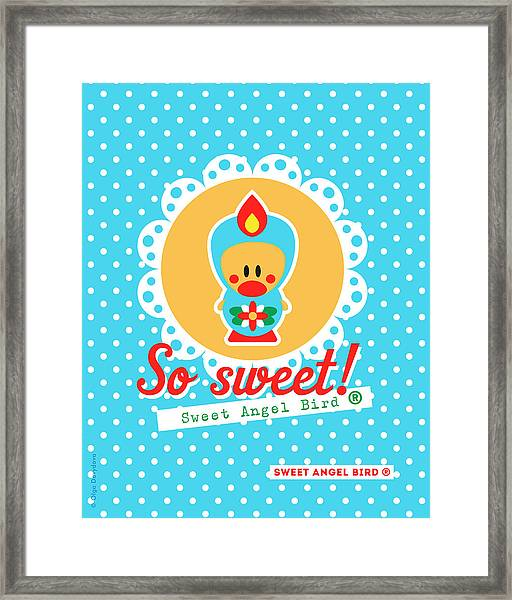 Cute Art - Sweet Angel Bird Lace Matryoshka Wall Art Print  Framed Print