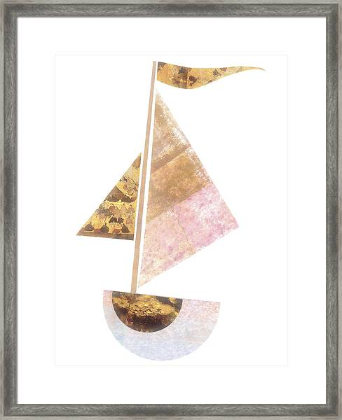 Cute Sailboat Collage 502 Framed Print