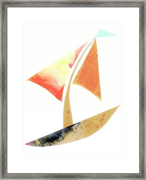 Cute Sailboat Collage 517 Framed Print