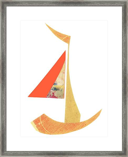 Cute Sailboat Collage 518 Framed Print