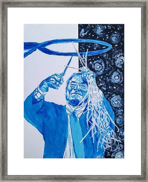 Cutting Down The Net - Dean Smith Framed Print
