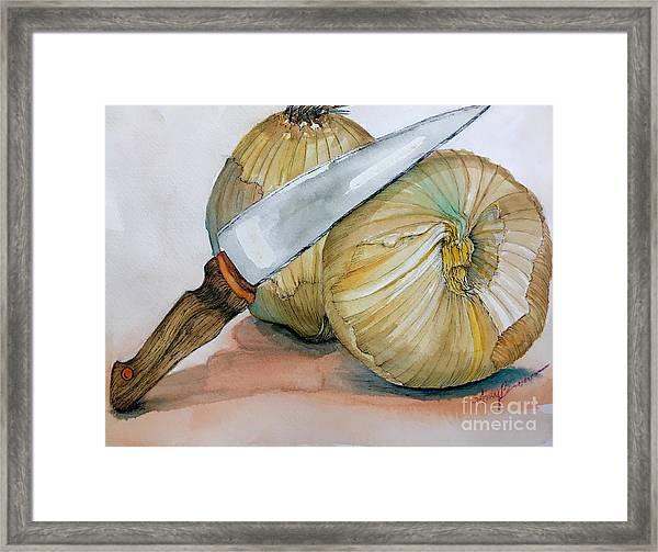 Cutting Onions Framed Print