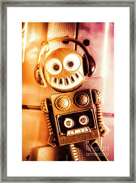 Cyborg Dance Party Framed Print