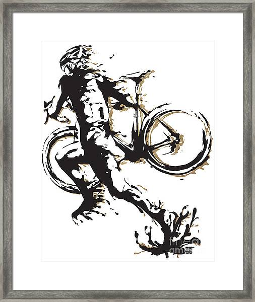Cyclocross Poster1 Framed Print