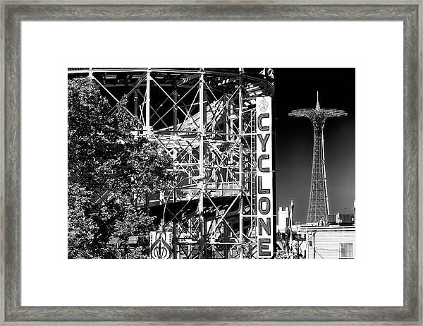 Cyclone At Coney Island Framed Print