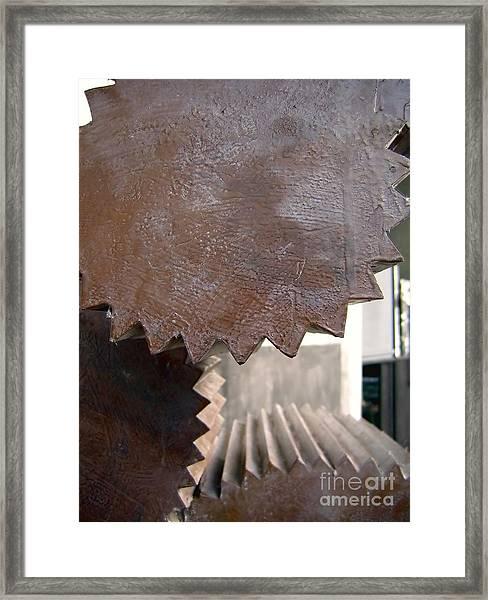 Cylindrical Gears Framed Print