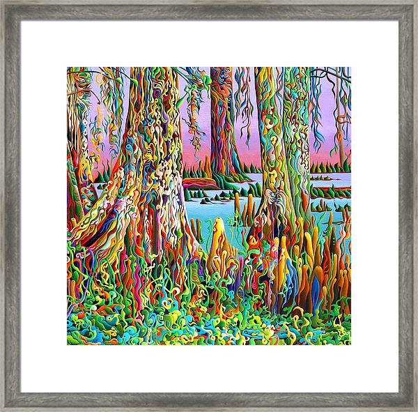 Cypress Spirit Rising Framed Print
