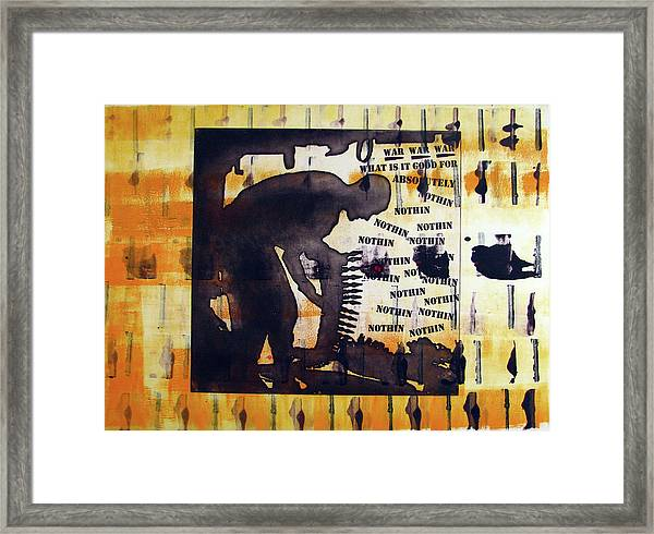 D U Rounds Project, Print 14 Framed Print
