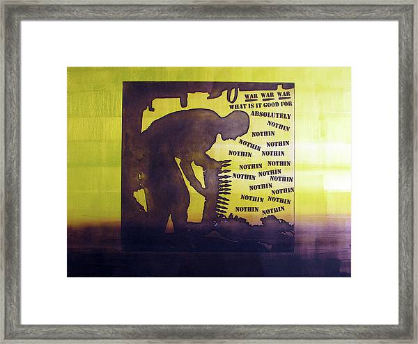 D U Rounds Project, Print 15 Framed Print