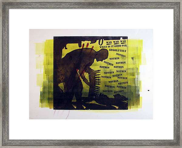 D U Rounds Project, Print 16 Framed Print