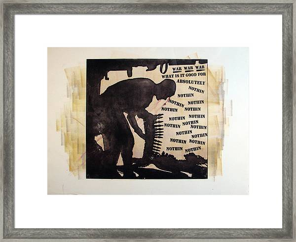 D U Rounds Project, Print 17 Framed Print