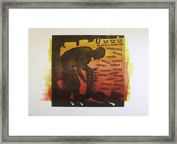 D U Rounds Project, Print 18 Framed Print