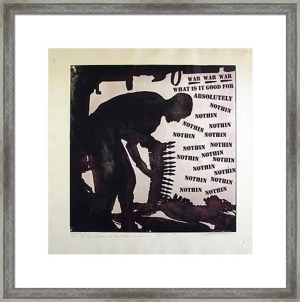 D U Rounds Project, Print 21 Framed Print