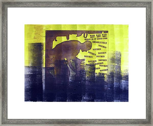 D U Rounds Project, Print 23 Framed Print