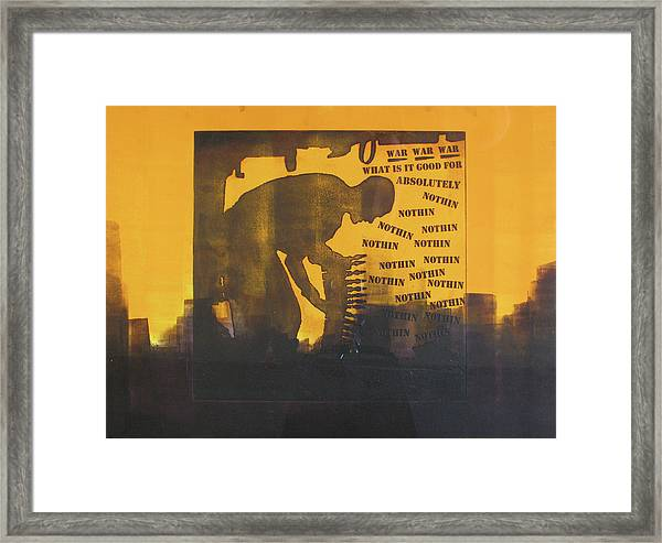 D U Rounds Project, Print 27 Framed Print