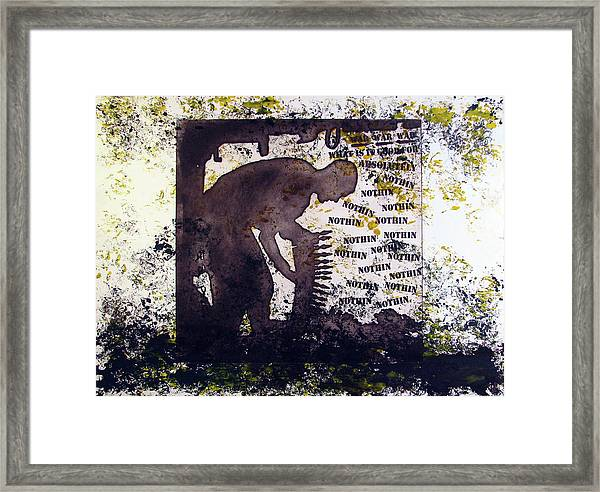 D U Rounds Project, Print 29 Framed Print