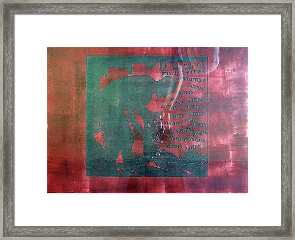 D U Rounds Project, Print 34 Framed Print