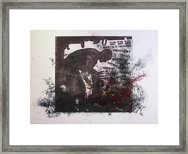 D U Rounds Project, Print 41 Framed Print