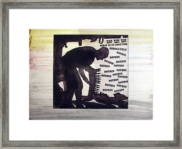 D U Rounds Project, Print 44 Framed Print