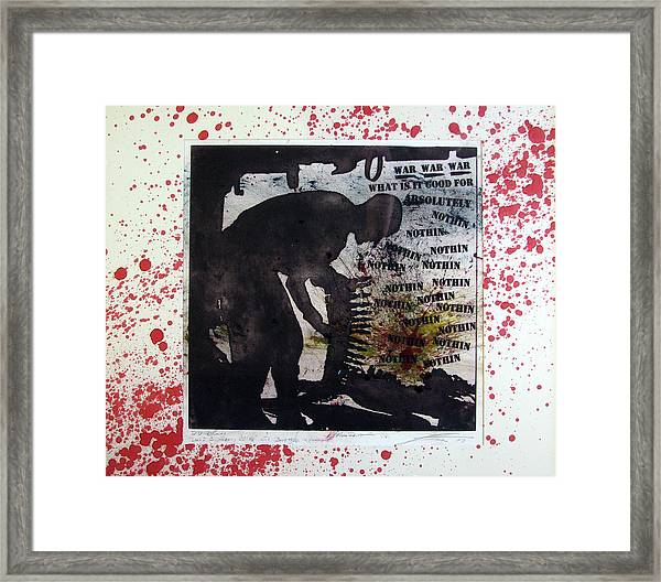 D U Rounds Project, Print 52 Framed Print