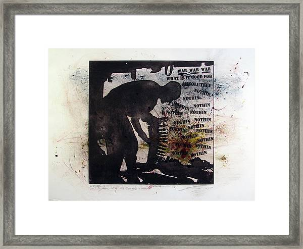 D U Rounds Project, Print 53 Framed Print