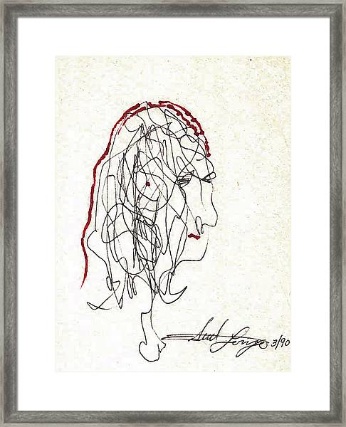 Da Vinci Drawing Framed Print