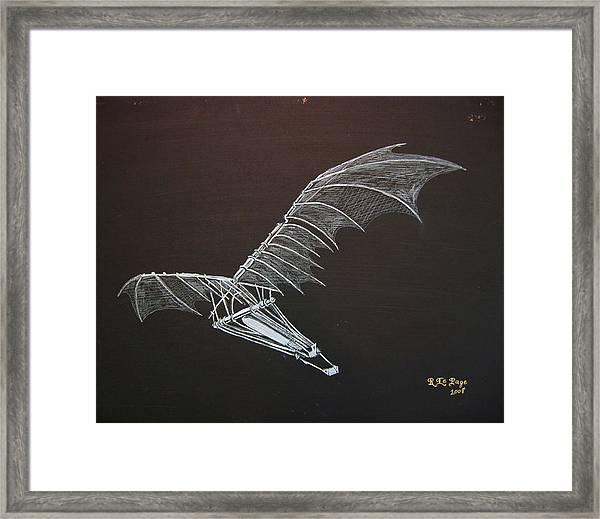 Da Vinci Flying Machine Framed Print