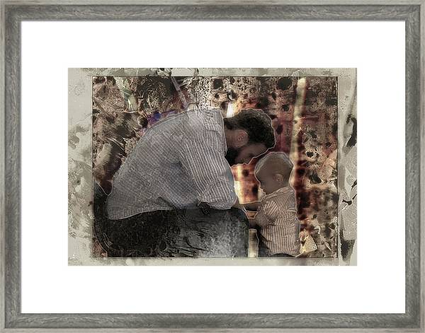 Daddys Hands Framed Print