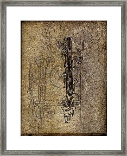 Dads Clarinet Framed Print