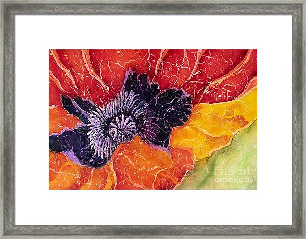 Dad's Poppy Framed Print