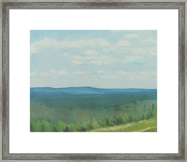 Dagrar Over Salenfjallen- Shifting Daylight Over Distant Horizon 3 Of 10_0029 50x40 Cm Framed Print