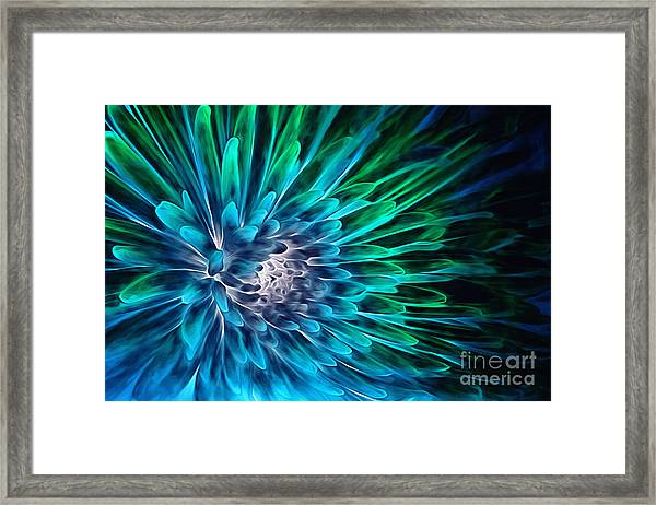 Dahlia Abstract Vibrance Framed Print
