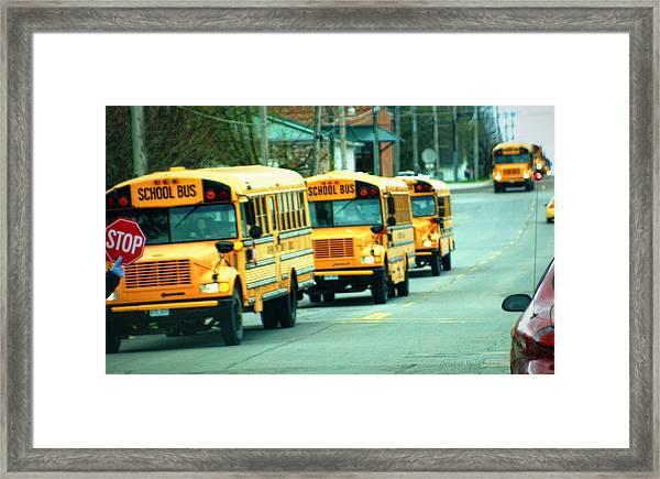 Daily Parade Framed Print