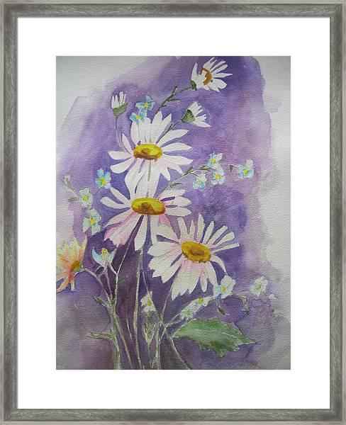 Daisey Bouquet Framed Print