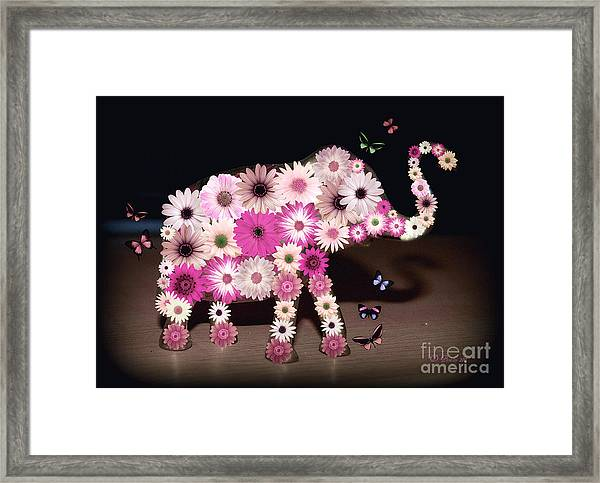 Daisy Elephant Framed Print