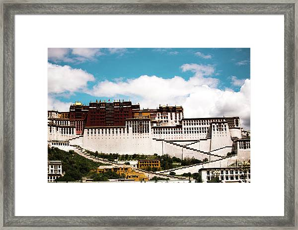 Dalai Lama Home Place. Potala Palace  Kailash Yantra.lv 2016 Tibet Framed Print