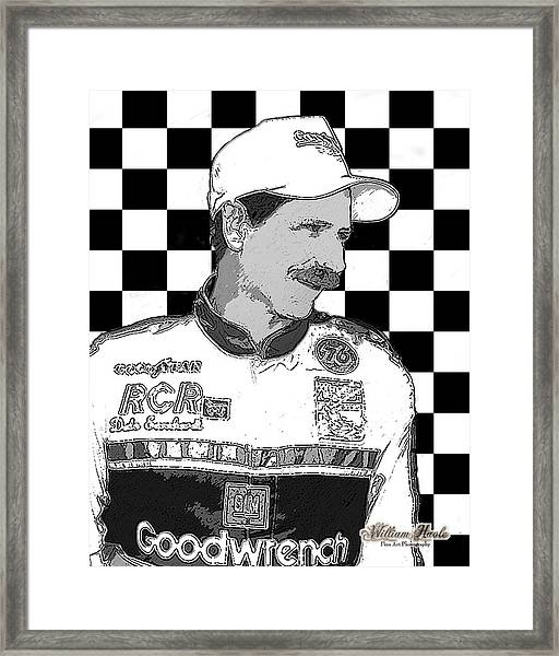 Framed Print featuring the digital art Dale Earnhardt Sr by William Havle