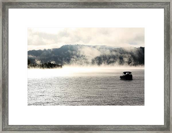 Dale Hollow Morning Fishing Framed Print