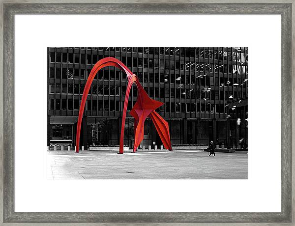 Daley Plaza Framed Print