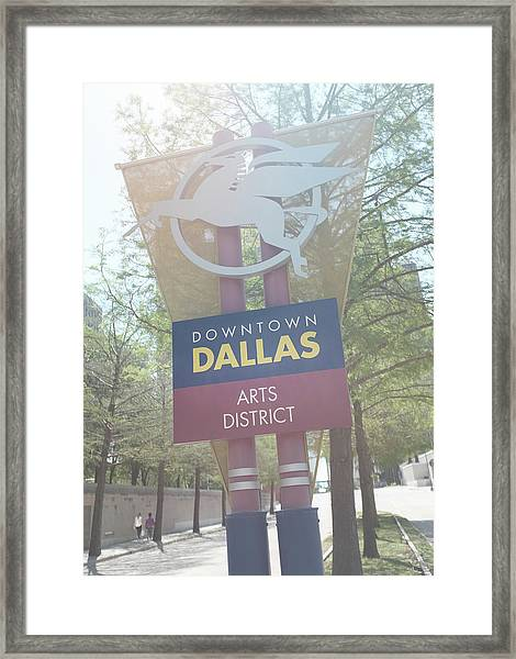 Dallas Arts District Framed Print