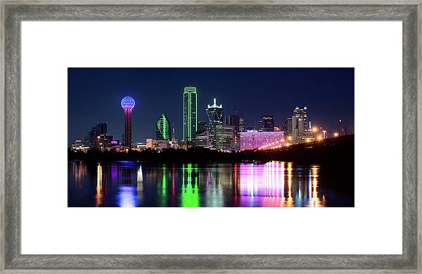 Dallas Colorful Night 52716 Framed Print