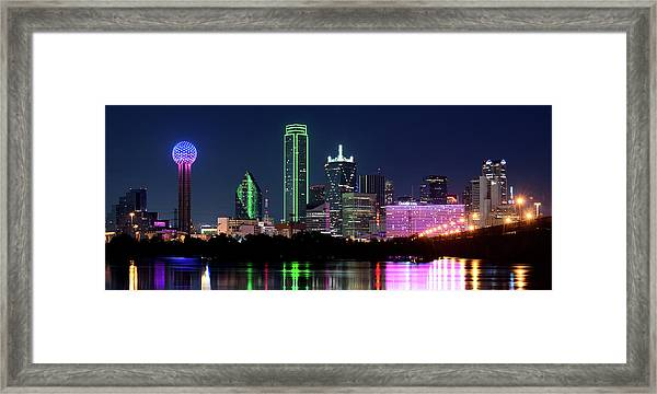 Dallas Colors Pano 2015 Framed Print