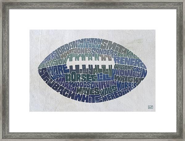 Dallas Cowboy Football Framed Print by Mitch Frey
