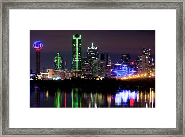Dallas Cowboys Star Night Framed Print