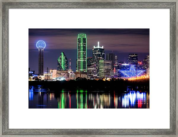 Dallas Cowboys Star Skyline Framed Print