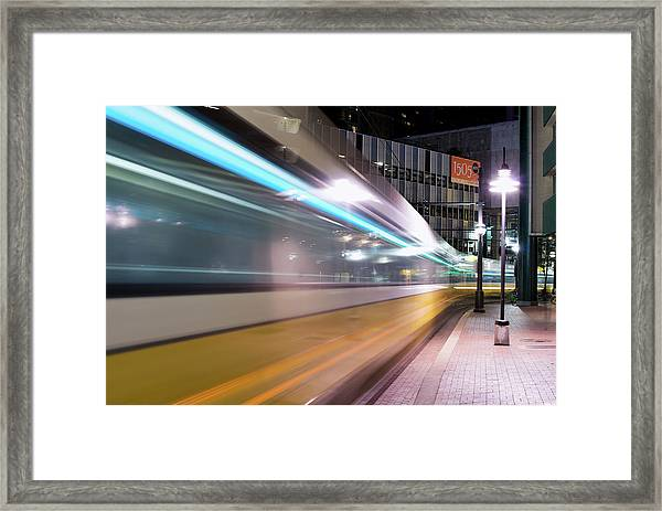 Dallas Dart Motion 012618 Framed Print