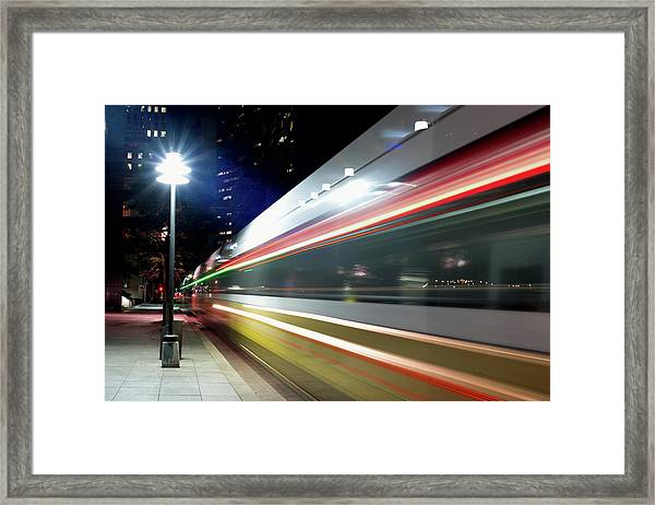 Dallas Dart Train 012518 Framed Print
