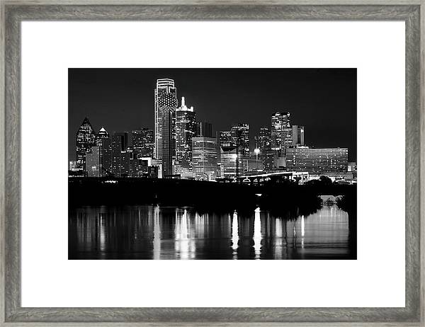 Dallas Nights Bw 6816 Framed Print