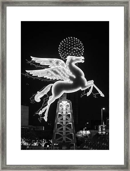Dallas Pegasus Bw 121517 Framed Print