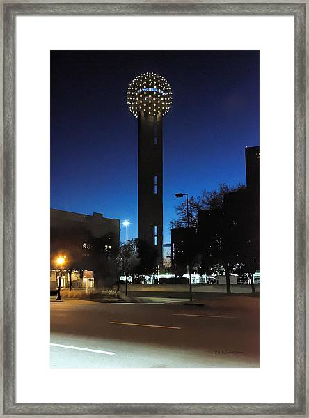 Dallas Reunion Tower Framed Print